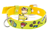 Candy Shop Textile Dog Collar - Green