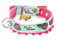 Miami Vice Textile Dog Collar