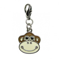 Happy Monkey Face Enamel Charm