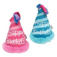 Birthday Hat Crinkle Plush Toy