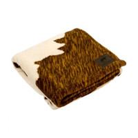 Cowhide Fleece Blanket