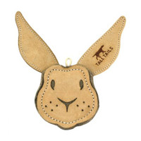 Scrappy Natural Leather Rabbit Toy