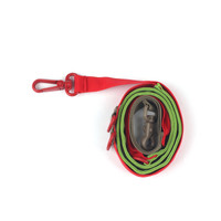 Pony Webbing Twoway Leash - Green/Red