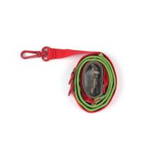 Pony Webbing Twoway Leash - Green/Red