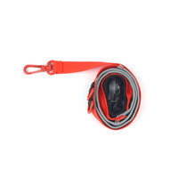 Pony Webbing Twoway Leash - Grey/Orange