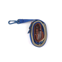 Pony Webbing Twoway Leash - Beige/Blue