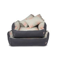 Play Cushion Dog Bed - Gray