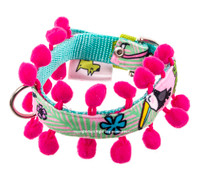 Toucan Pink Textile Dog Collar