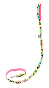 Toucan Green Textile Leash