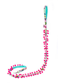 Toucan Pink w/ Fringe Textile Leash