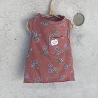 Louisdog Floral Sleeveless Pocket Tee
