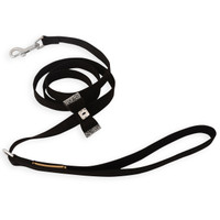 Susan Lanci Black Crystal Stellar Big Bow Ultrasuede Leash