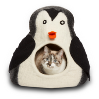 Penguin Felted Cat Cave
