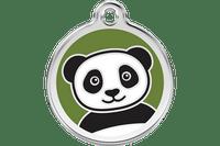 Panda Stainless Steel Enamel ID Tag