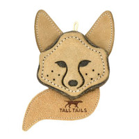 Scrappy Natural Leather Fox Toy