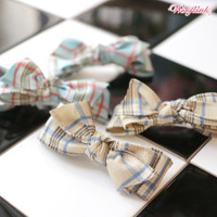 Wooflink Plaid Bow