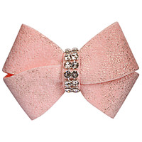 Susan Lanci Puppy Pink Glitzerati Nouveau Bow Hair Bow