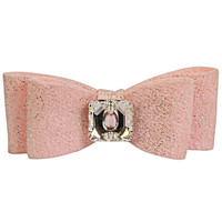 Susan Lanci Puppy Pink Glitzerati Big Bow Hair Bow