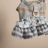Louisdog Tweed Frill Harness Set