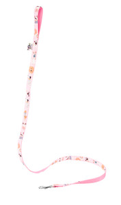 Dogs in Pink Textile Leash