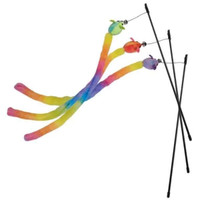 Rainbow Tail Cat Wand