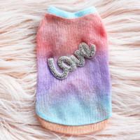 Rainbow Love Dog Sweater