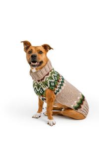 Ragg Wool Fairisle Dog Sweater