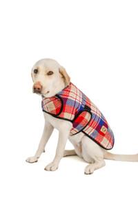 Red Field Plaid Blanket Coat