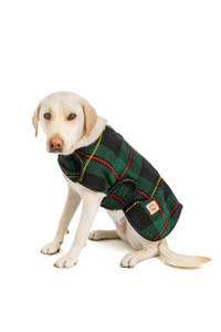 Navy Tartan Plaid Blanket Coat