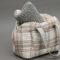 Louisdog Plaid Linenaround Bag