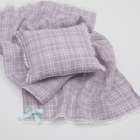 Louisdog Lavender Blanket n Pillow Set