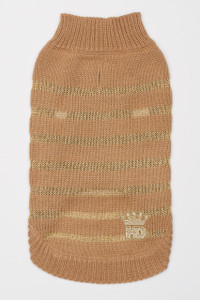 Metallic Stripe Dog Sweater