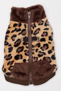 Butter Fleece Dog Vest - Cheetah