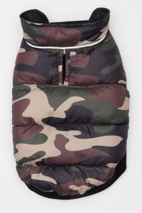 Flex-Fit Reversible Puffer Vest - Black/Camo