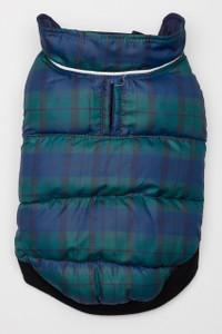Flex-Fit Reversible Puffer Vest - Navy/Plaid