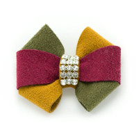 Susan Lanci Autumn Pinwheel Hair Bow