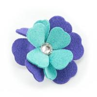 Susan Lanci Violet Flower Hair Bow