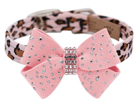 Susan Lanci Silver Stardust Nouveau Bow Collar- Jungle Prints Base