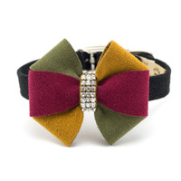 Susan Lanci Autumn Pinwheel Bow Collar