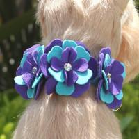 Susan Lanci Violet Flower Collar