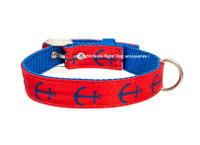 Anchor Red/Blue Textile Collar