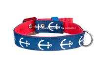 Anchor Blue/White Textile Collar