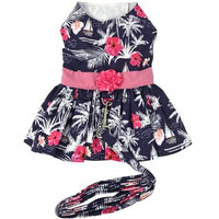 Moonlight Sails Dog Dress with Matching Leash