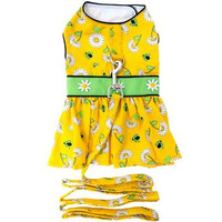 Ladybugs and Daisies Dog Dress with Matching Leash