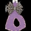 French Lavender w/ Cheetah Platinum Bow