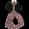 Pink Cheetah w/ Black Bow