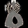 Platinum w/ Zebra Bow