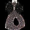 Platinum Cheetah w/ Black Bow