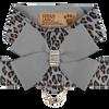 Cheetah Platinum Harness with Platinum Bow