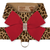 Cheetah Harness with Red Bow
